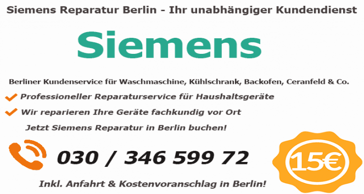 Siemens Herd Reparaturdienst in Berlin